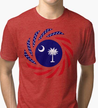 South Carolina Murican Patriot Flag Series Tri-blend T-Shirt