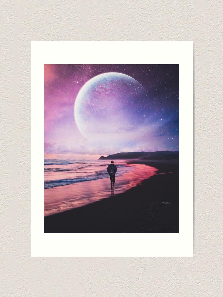 Alternate view of Night Stroll Art Print