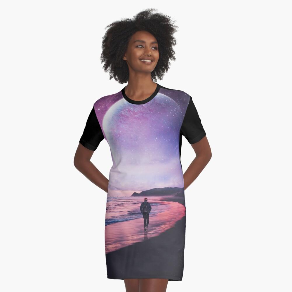 Night Stroll Graphic T-Shirt Dress