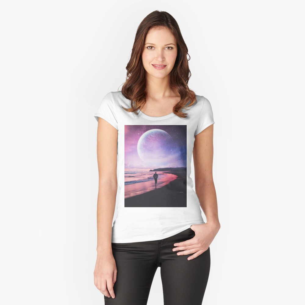 Night Stroll Fitted Scoop T-Shirt