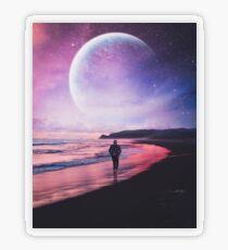 Night Stroll Transparent Sticker