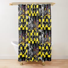 Taxi Land Shower Curtain