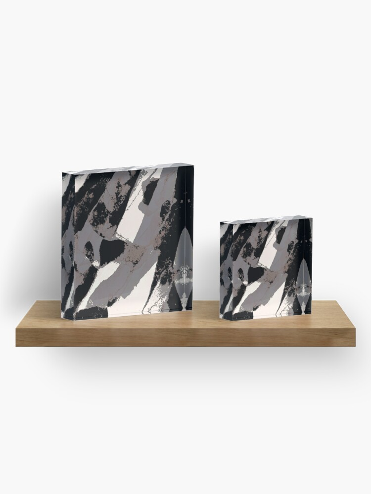 Alternate view of Organic No.1 Abstract #muted #redbubble #artprints #fineart Acrylic Block
