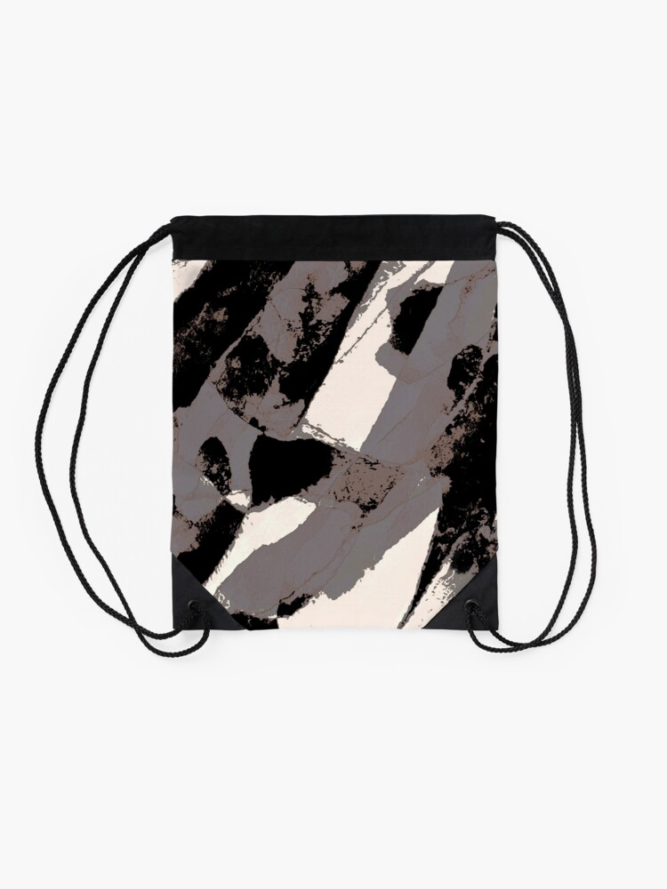 Alternate view of Organic No.1 Abstract #muted #redbubble #artprints #fineart Drawstring Bag