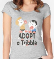 Adopt A Tribble Fitted Scoop T-Shirt