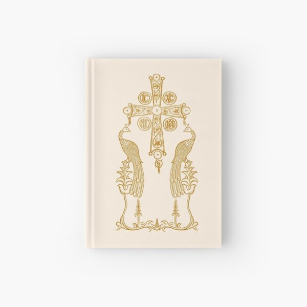 Cross with Peacocks Hardcover Journal