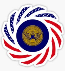 Atlanta Murican Patriot Flag Series Sticker