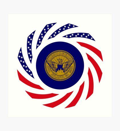 Atlanta Murican Patriot Flag Series Art Print
