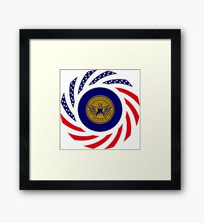 Atlanta Murican Patriot Flag Series Framed Print
