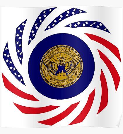 Atlanta Murican Patriot Flag Series Poster
