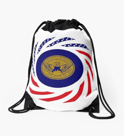 Atlanta Murican Patriot Flag Series Drawstring Bag