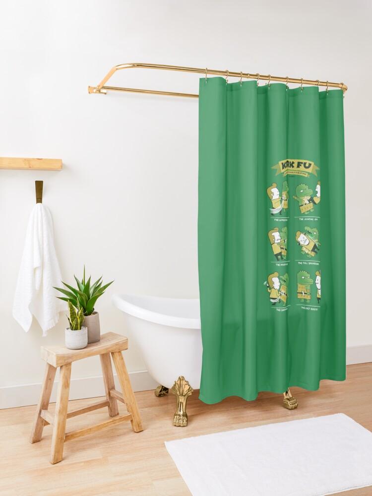 Alternate view of Kirk Fu Shower Curtain