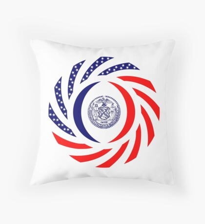 New York City Murican Patriot Flag Series Throw Pillow