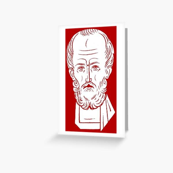 The Face of Santa Claus | St Nicholas of Myra Greeting Card