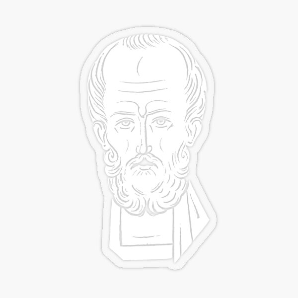 The Face of Santa Claus   St Nicholas of Myra Transparent Sticker