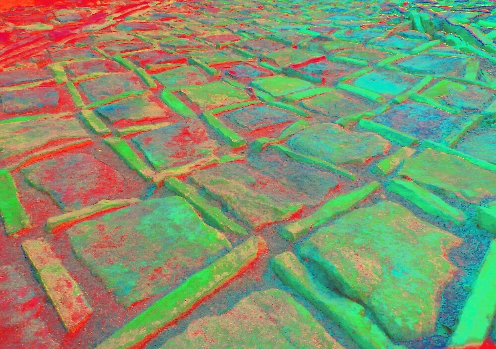Square Stones Pathway Number 15 by Mike Solomonson
