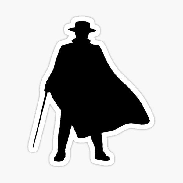 Zorro - Silueta Pegatina