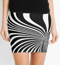 60's Op Art Black and White Mini Skirt