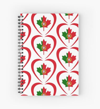 Portuguese Canadian Multinational Patriot Flag Series (Heart) Spiral Notebook