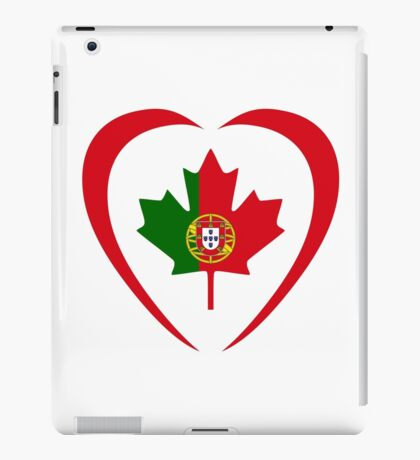 Portuguese Canadian Multinational Patriot Flag Series (Heart) iPad Case/Skin
