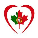 Portuguese Canadian Multinational Patriot Flag Series (Heart) by Carbon-Fibre Media