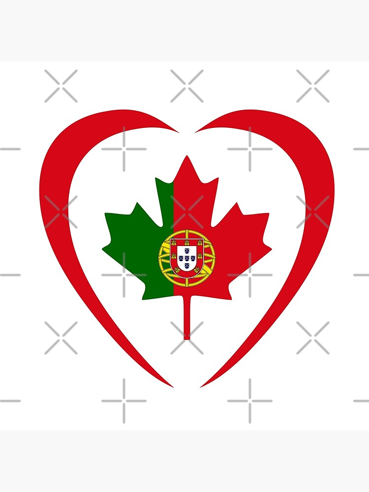 Portuguese Canadian Multinational Patriot Flag Series (Heart) by carbonfibreme