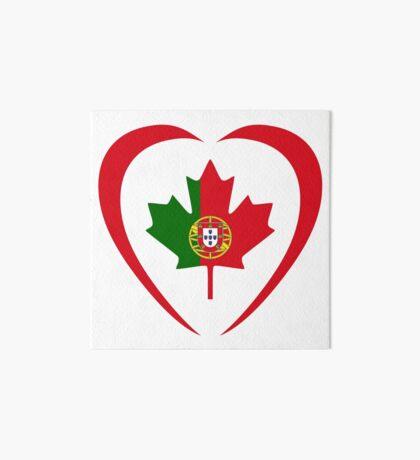 Portuguese Canadian Multinational Patriot Flag Series (Heart) Art Board Print