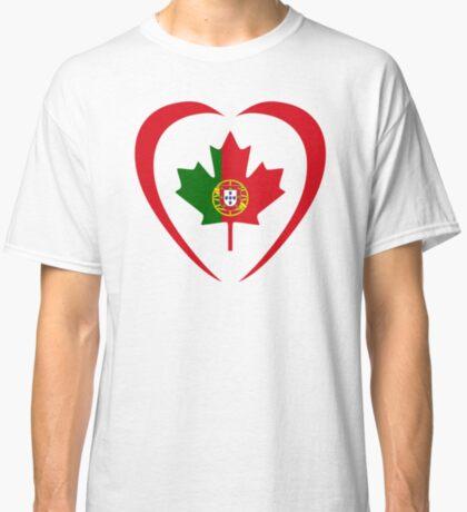 Portuguese Canadian Multinational Patriot Flag Series (Heart) Classic T-Shirt