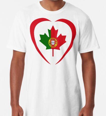 Portuguese Canadian Multinational Patriot Flag Series (Heart) Long T-Shirt