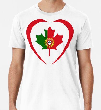 Portuguese Canadian Multinational Patriot Flag Series (Heart) Premium T-Shirt