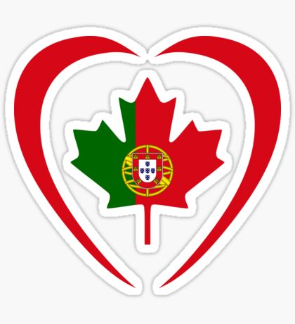 Portuguese Canadian Multinational Patriot Flag Series (Heart) Sticker