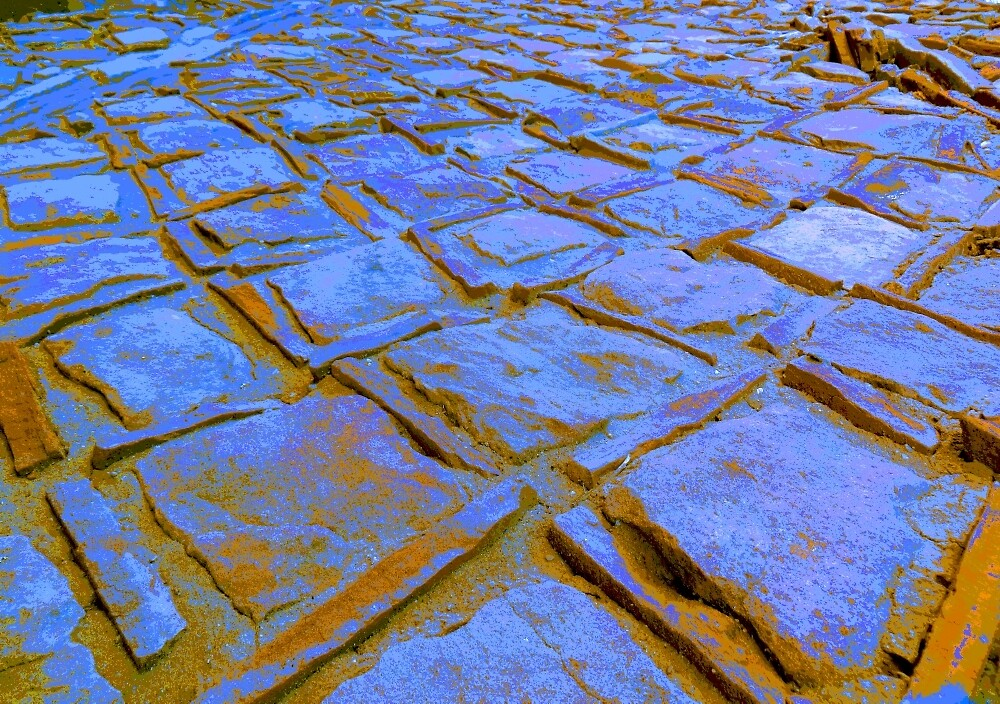 Square Stones Pathway Number 19 by Mike Solomonson