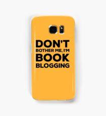 Don't Bother Me, I'm Book Blogging - Orange Samsung Galaxy Case/Skin