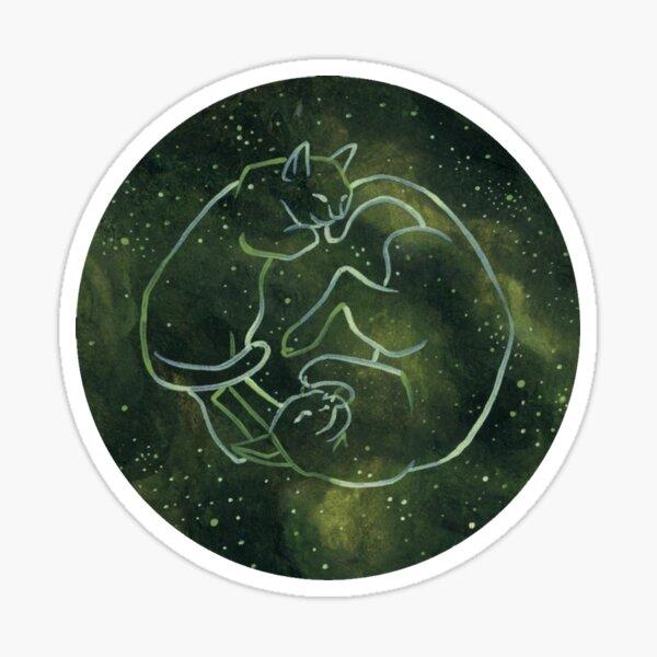 Astrology Cats - Pisces Zodiac Sticker