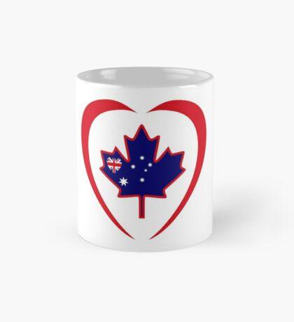 Australian Canadian Multinational Patriot Flag Series (Heart) Mug