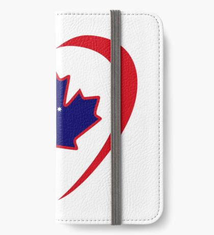 Australian Canadian Multinational Patriot Flag Series (Heart) iPhone Wallet