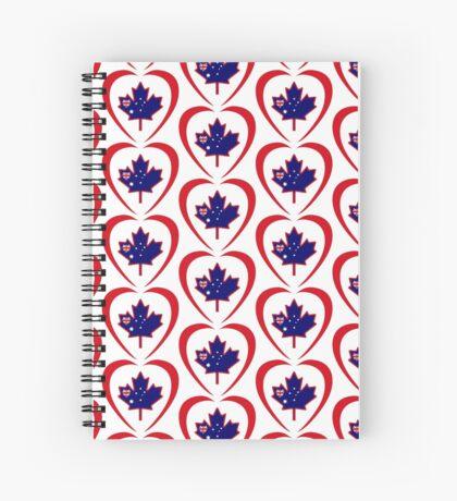 Australian Canadian Multinational Patriot Flag Series (Heart) Spiral Notebook