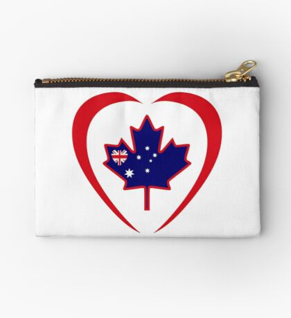 Australian Canadian Multinational Patriot Flag Series (Heart) Zipper Pouch