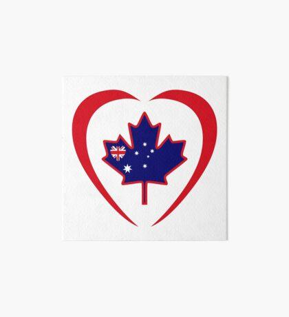 Australian Canadian Multinational Patriot Flag Series (Heart) Art Board Print