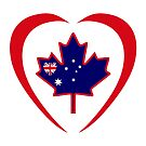 Australian Canadian Multinational Patriot Flag Series (Heart) by Carbon-Fibre Media