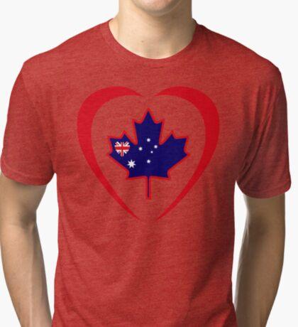 Australian Canadian Multinational Patriot Flag Series (Heart) Tri-blend T-Shirt
