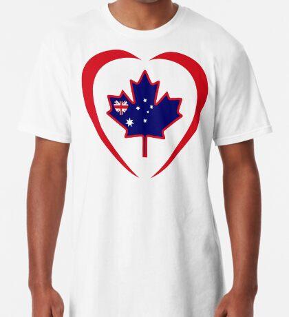 Australian Canadian Multinational Patriot Flag Series (Heart) Long T-Shirt