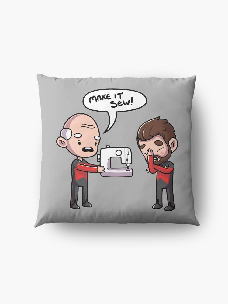 Alternate view of Make It Sew Floor Pillow