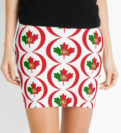 Portuguese Canadian Multinational Patriot Flag Series Mini Skirt