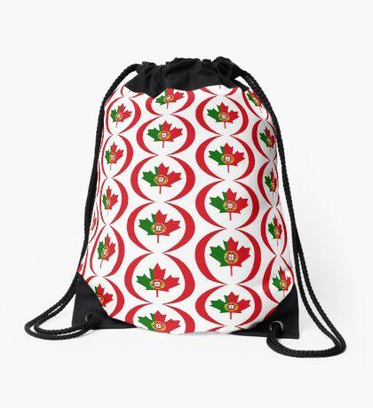 Portuguese Canadian Multinational Patriot Flag Series Drawstring Bag