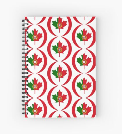 Portuguese Canadian Multinational Patriot Flag Series Spiral Notebook