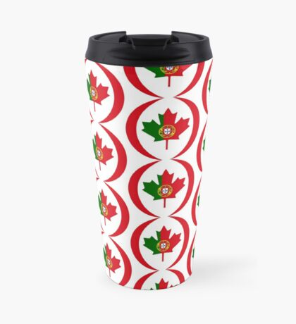 Portuguese Canadian Multinational Patriot Flag Series Travel Mug