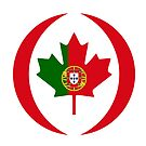 Portuguese Canadian Multinational Patriot Flag Series by Carbon-Fibre Media