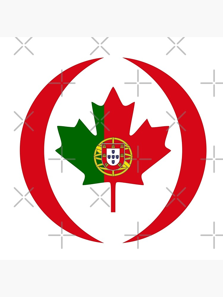 Portuguese Canadian Multinational Patriot Flag Series by carbonfibreme