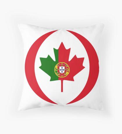 Portuguese Canadian Multinational Patriot Flag Series Throw Pillow